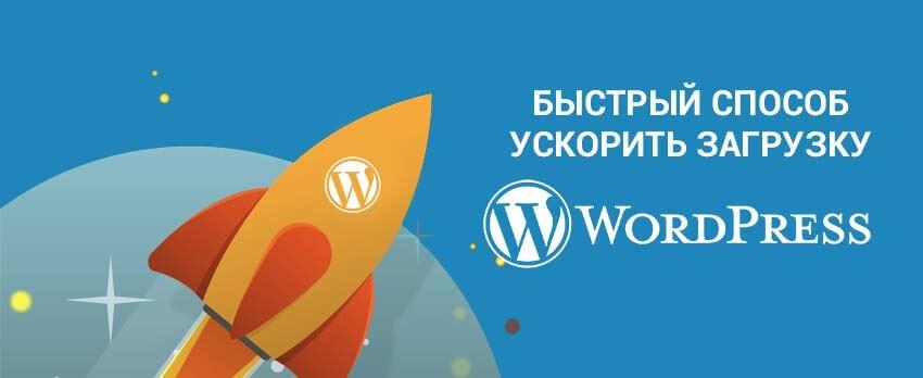 Быстрый способ ускорить загрузку сайта на cms WordPress